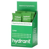 Hydrant, Rapid Hydration Drink Mix, Lime, 12 Pack, 0.22 oz (6.3 g) Each