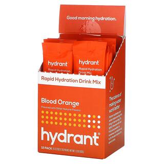 Hydrant, Rapid Hydration Drink Mix, Blood Orange, 12 Pack, 0.27 oz (7.7 g) Each