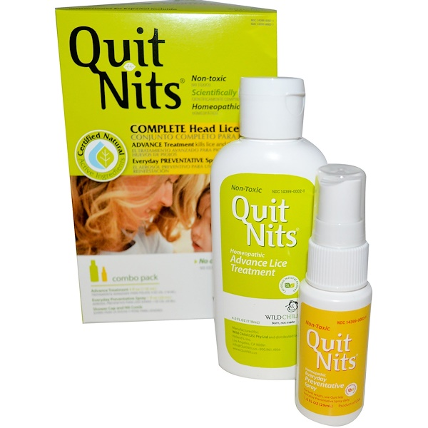 Hyland's, Quit Nits, Complete Head Lice Kit, 4 Piece Kit (Discontinued Item)