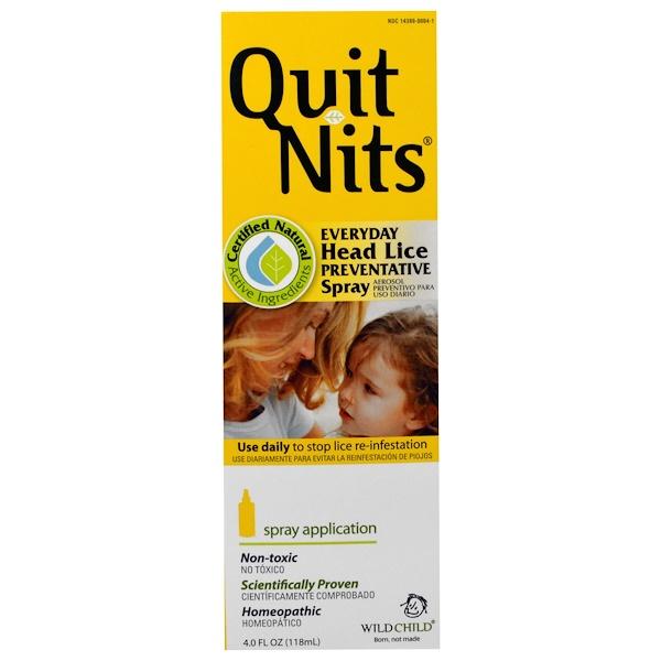 Hyland's, Quit Nits, Everyday Head Lice Preventative Spray, 4.0 fl oz (118 ml) (Discontinued Item)