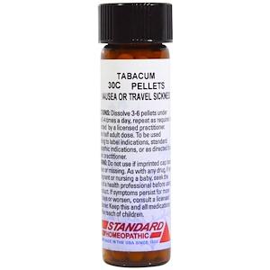 Хайлэндс, Standard Homeopathic, Tabacum, Nausea or Travel Sickness, 30C, 160 Pellets отзывы