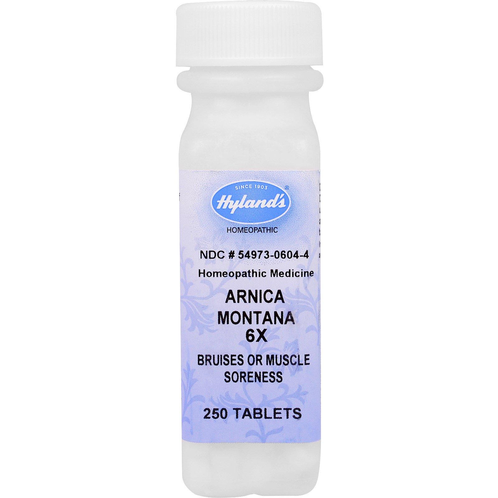 Hyland's, Арника горная (Arnica montana) 6X, от боли в мышцах и кровоподтеков, 250 таблеток