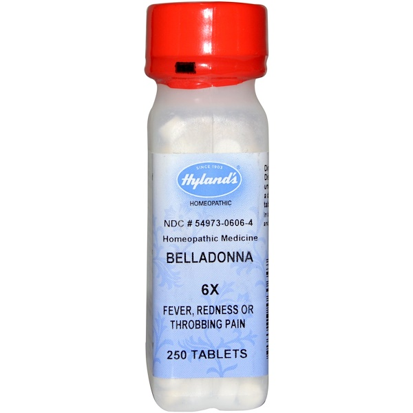 Hyland's, Belladonna 6X, 250 Tablets (Discontinued Item)