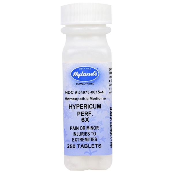 Hyland's, Hypericum Perf. 6X, Pain or Minor Injuries To Extremities, 250 Tablets (Discontinued Item)