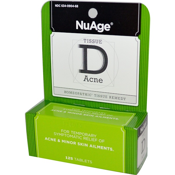 Hyland's, NuAge, Tissue D Acne, 125 Tablets (Discontinued Item)