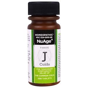 Хайлэндс, NuAge, Tissue J Colds, 125 Tablets отзывы