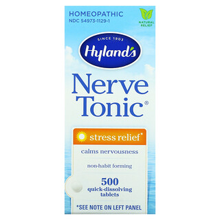 Hyland's, Nerve Tonic, Stress Relief, 500 Quick-Dissolving Tablets