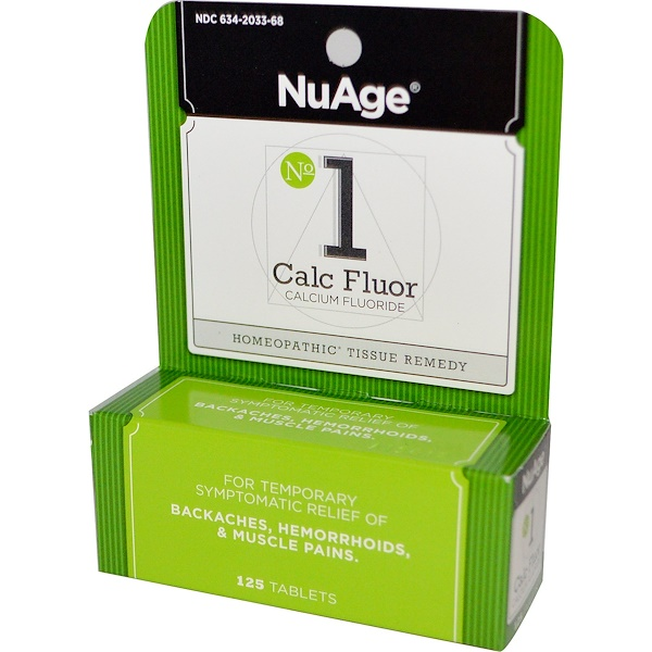 Hyland's, NuAge, No 1 Calc Fluor (Calcium Fluoride), 125 Tablets (Discontinued Item)