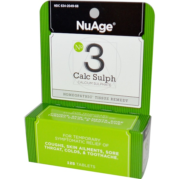 Hyland's, NuAge, No 3 Calc Sulph, 125 Tablets (Discontinued Item)