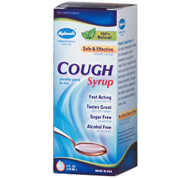 Hyland's, Cough Syrup, Alcohol Free, 4 fl oz (120 ml) (Discontinued Item)
