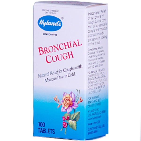 Hyland's, Bronchial Cough, 100 Tablets (Discontinued Item)