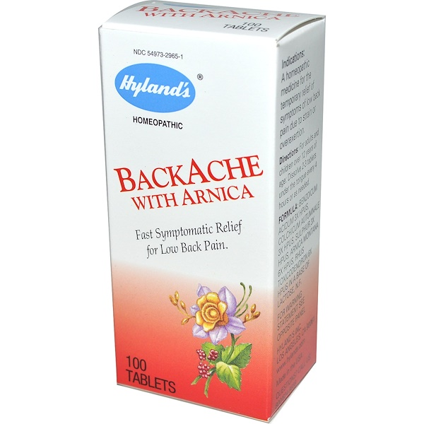 Hyland's, BackAche With Arnica, 100 Tablets (Discontinued Item)