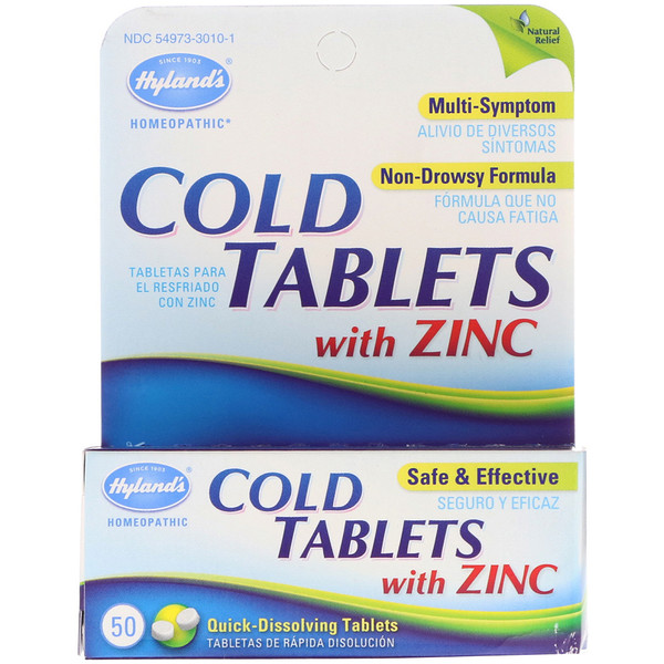 Hyland's, Cold Tablets with Zinc, 50 Quick-Dissolving Tablets