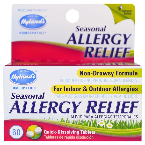 Seasonal Allergy Relief, 60 Quick-Dissolving Tablets