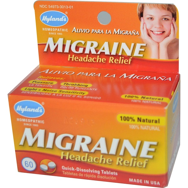 Migraine Headache Relief, 60 Quick-Dissolving Tablets