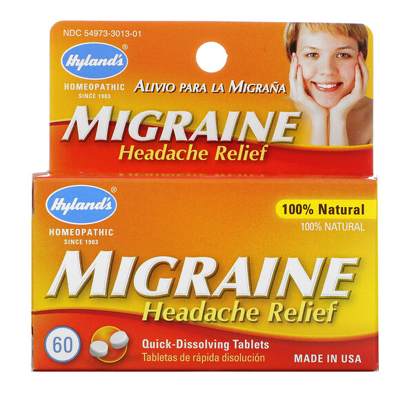 Hyland's, 側頭部疼痛緩解劑,60 片即溶片 (Discontinued Item)