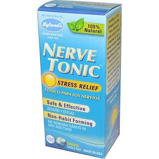 Hyland's, Nerve Tonic, Stress Relief, 100 Tablets