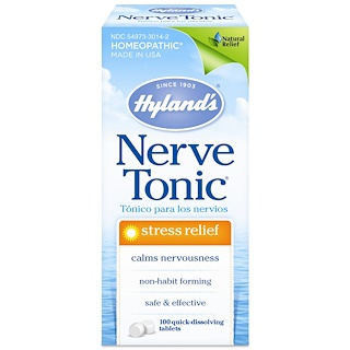 Hyland's, Nerve Tonic, Stress Relief, 100 Quick-Dissolving Tablets