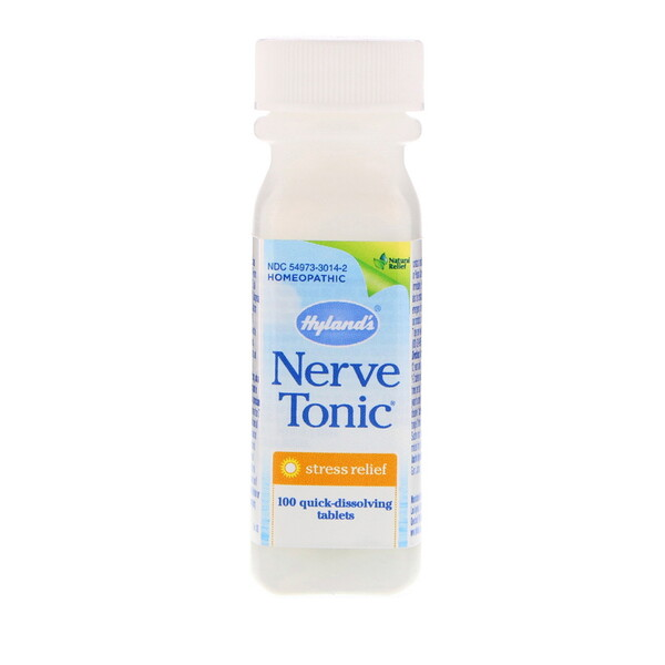Nerve Tonic, Stress Relief, 100 Quick-Dissolving Tablets