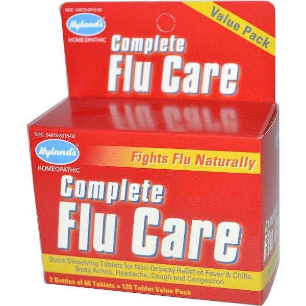 Hyland's, Complete Flu Care, экономная упаковка, 2 упаковки, 60 таблеток в каждой (Discontinued Item)