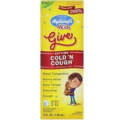 Hyland's, 4 Kids Cold 'n Cough, Daytime, Ages 2-12, 4 fl oz (118 ml)