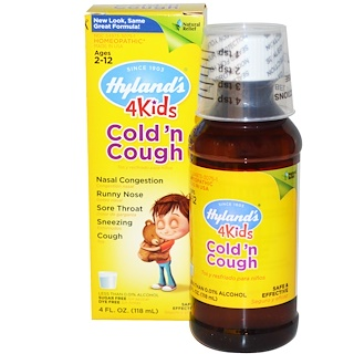 Hyland's, 4 Kids Cold 'n Cough , 4 fl oz (118 ml)