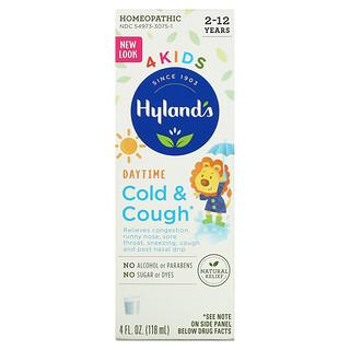 Hyland's, 4 Kids, Cold & Cough, Daytime, Ages 2-12, 4 fl oz (118 ml)