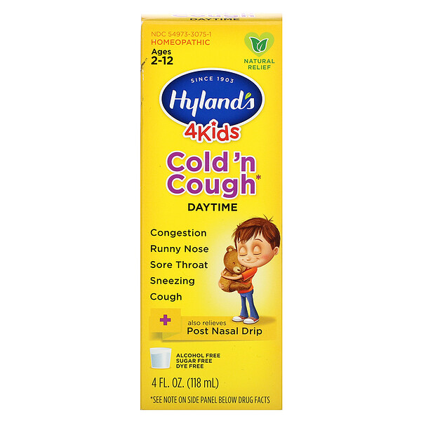 4 Kids, Cold 'n Cough, Daytime, Ages 2-12, 4 fl oz (118 ml)