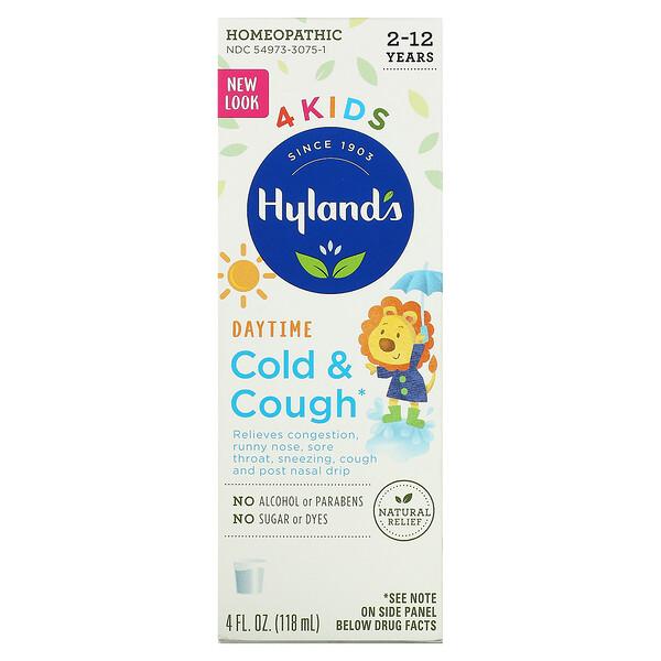 4 兒童,著涼和咳嗽,白天,2-12 歲,4 液量盎司(118 毫升)