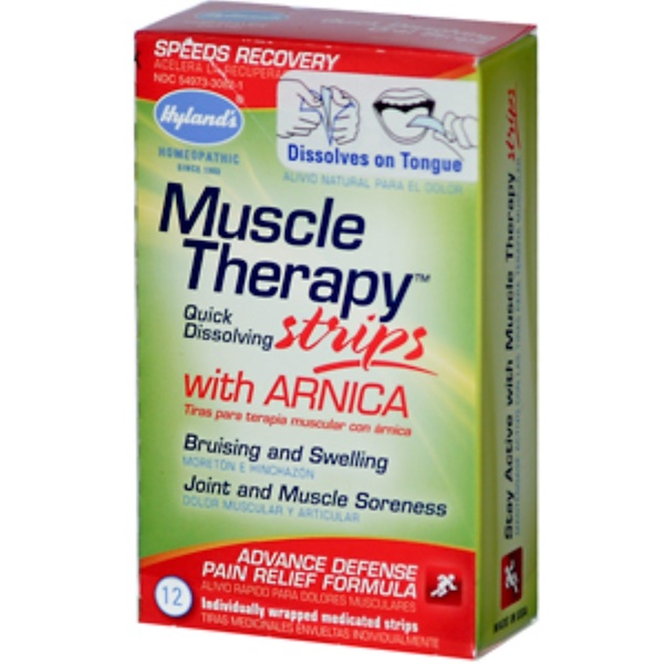Hyland's, Muscle Therapy Strips with Arnica, 12 Individually Wrapped Medicated Strips (Discontinued Item)