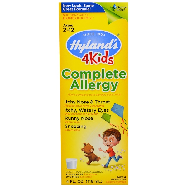 Hyland's, Complete Allergy 4 Kids (Medicina para las Alergias para Niños), 4 fl oz (118 ml) (Discontinued Item)