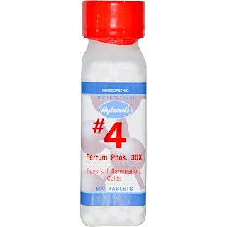 Hyland's, #4 Ferrum Phos. 30X, 500 Tablets
