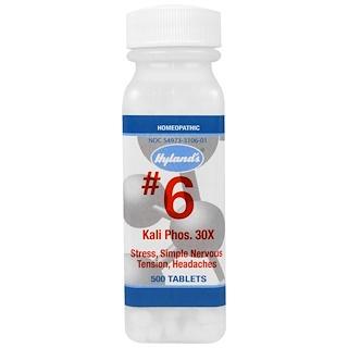 Hyland's, #6, Kali Phos. 30X, 500 Comprimidos