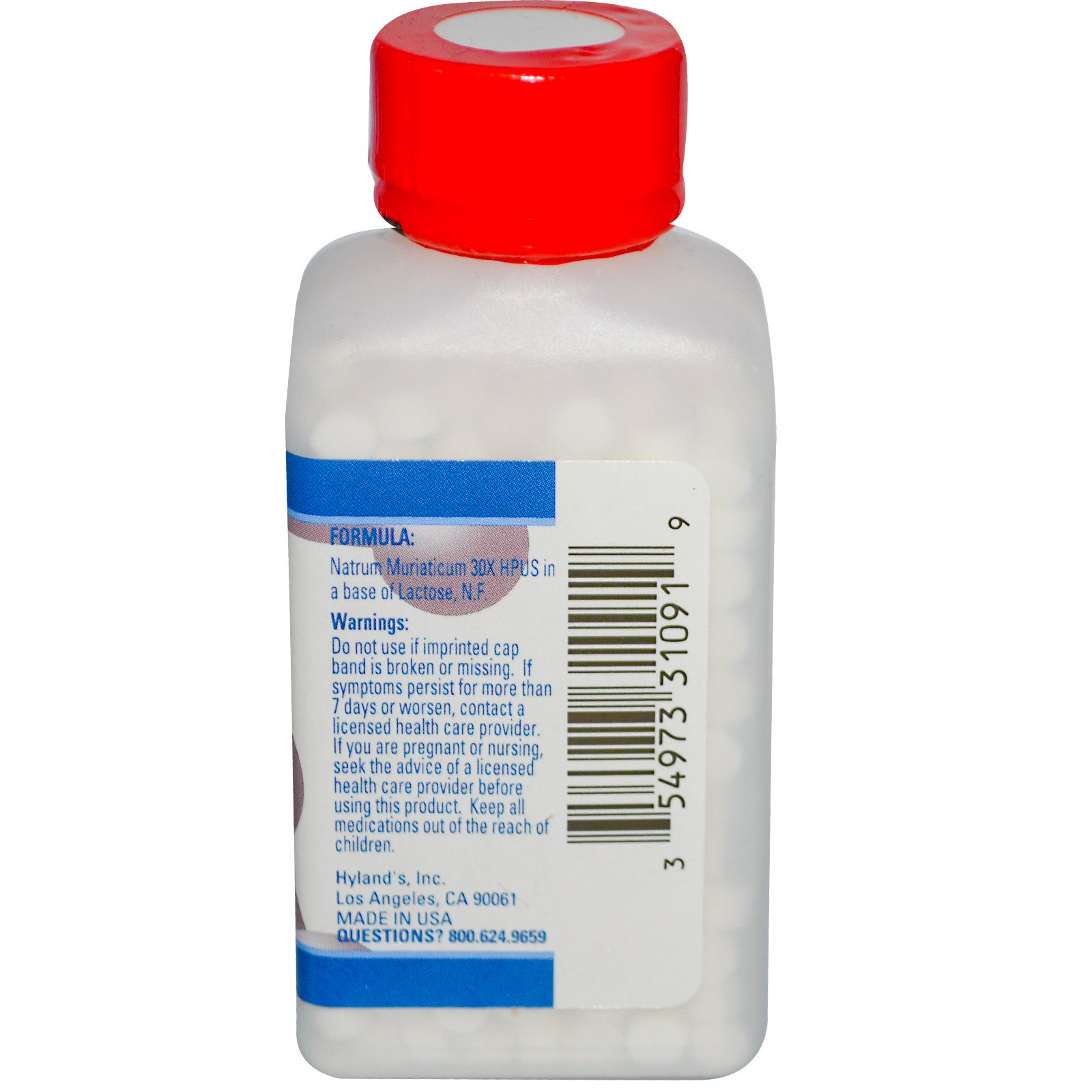 Hyland's, №9 натрум муриатицум 30X, 500 таблеток