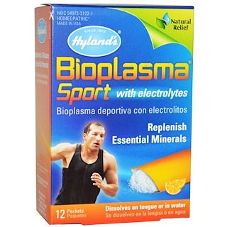 Hyland's, Bioplasma Sport with Electrolytes, Citrus Flavor, 12 Packets