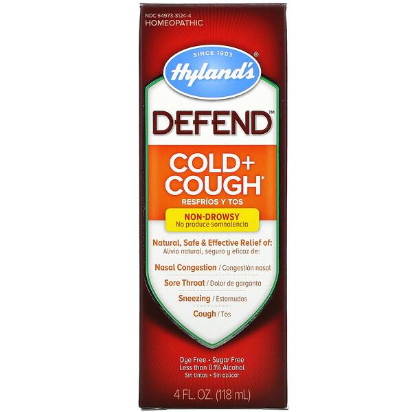 Defend, Cold + Cough, 4 fl oz (118 ml)