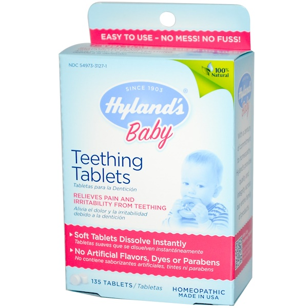 Hyland's, Baby, Teething Tablets, 135 Tablets (Discontinued Item)