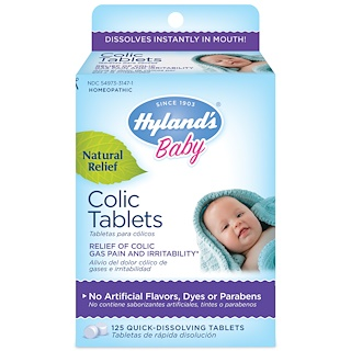 Hyland's, Baby, Colic Tablets, 125 Tablets