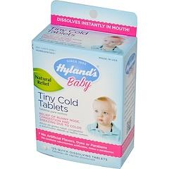 Hyland's, Детские маленькие таблетки от простуды, 125 быстрорастворимых таблеток
