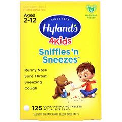 Hyland's, 4 Kids 鼻涕噴嚏舒緩即溶片,適用於 2-12 歲兒童,125 片