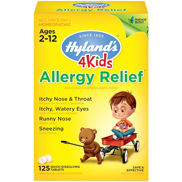 Hyland's, 4 Kids, Allergy Relief, Ages 2-12, 125 Quick-Dissolving Tablets