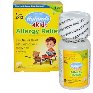 Hyland's, 4 Kids Allergy Relief, 125 быстрорастворимых таблеток