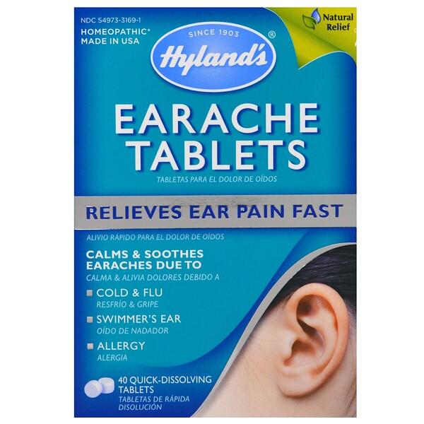 Hyland's, Таблетки от боли в ушах, 40 быстрорастворимых таблеток (Discontinued Item)