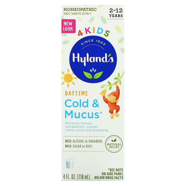 4 Kids, Cold & Mucus, Daytime, Ages 2-12, 4 fl oz (118 ml)