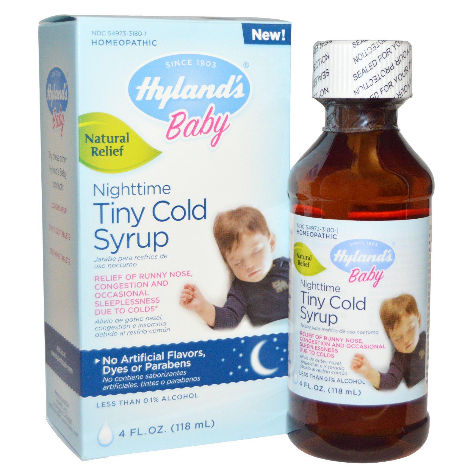 Hyland S Baby Nighttime Tiny Cold Syrup 4 Fl Oz 118 Ml