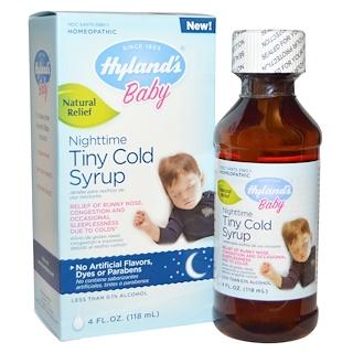 Hyland's, ベビー,  ナイトタイム・タイニー・コールドシロップ, 4 液量オンス (118 ml)