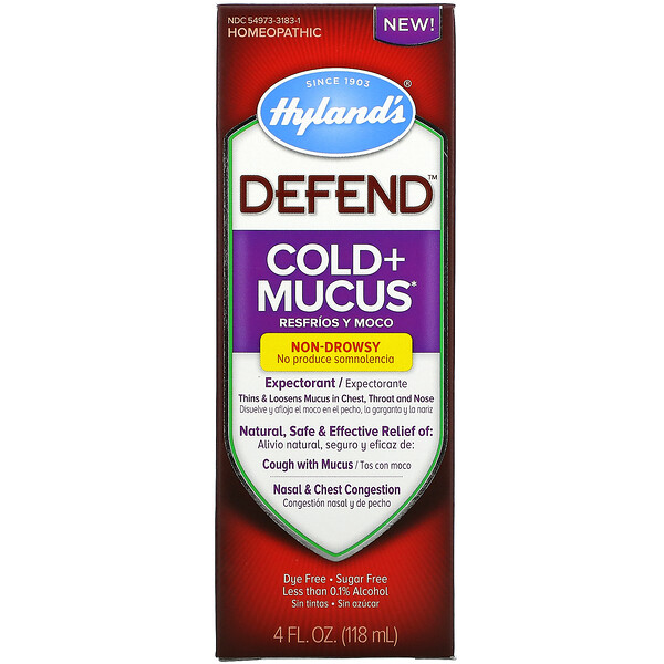 Defend, Cold + Mucus, 4 fl oz (118 ml)