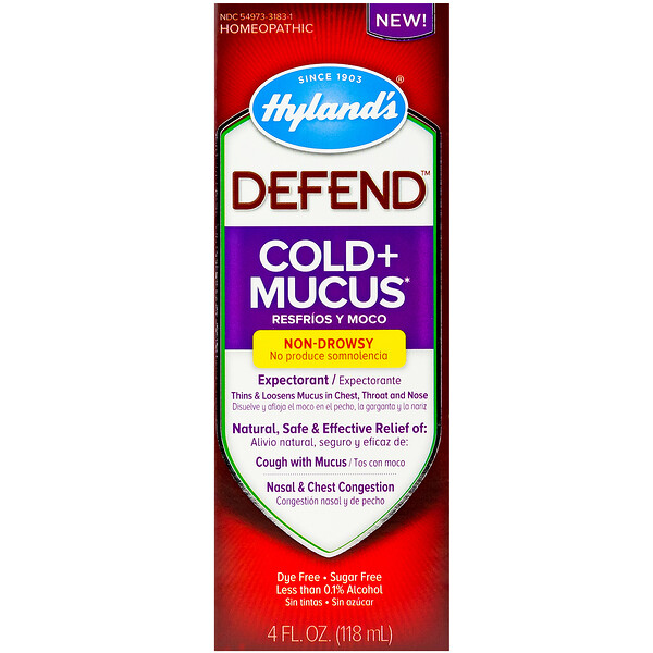 Hyland's, Defend, Cold + Mucus, 4 fl oz (118 ml) (Discontinued Item)