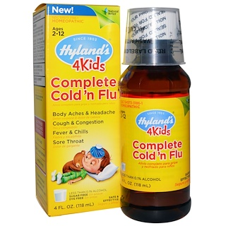 Hyland's, 4Kids, Complete Cold 'n Flu, 4 fl oz (118 ml)