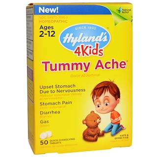 Hyland's, 4Kids, Tummy Ache, 50 Tablets